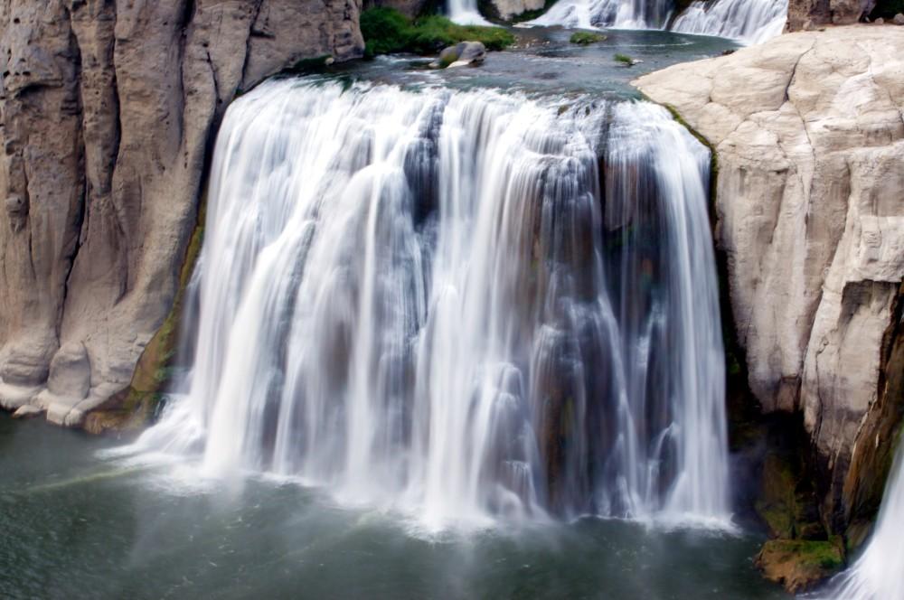 slow flowing waterfall