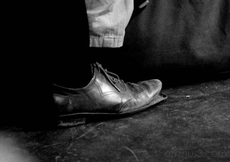 young man's shoe