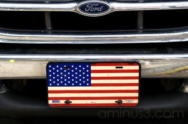 Flag on a Ford