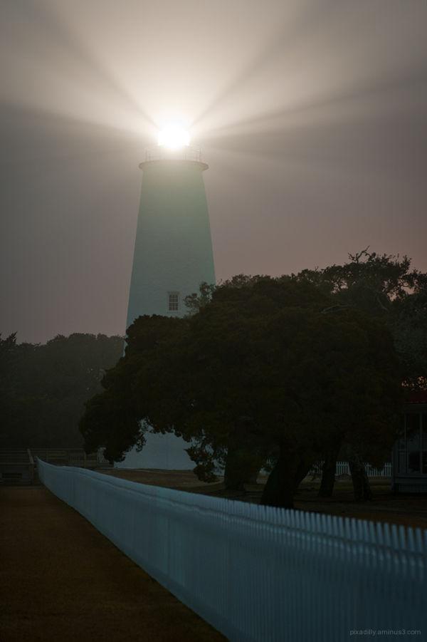 Lighthouse on a Foggy Night