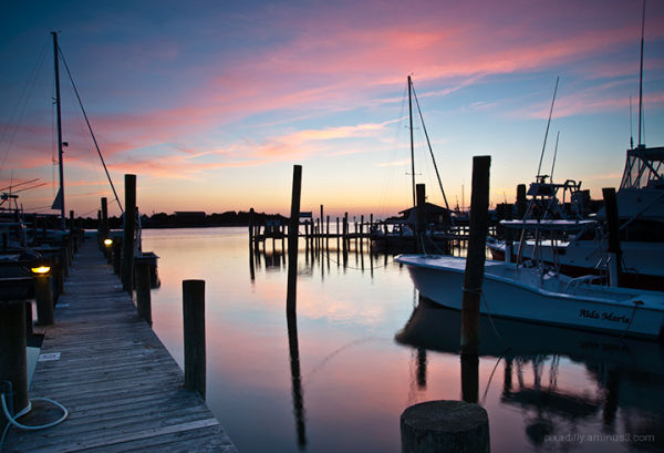 Ocracoke Harbor - Sunset