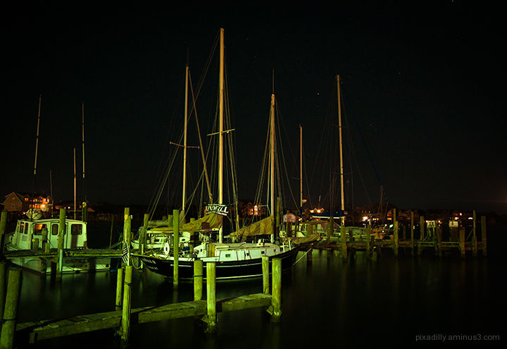 Ocracoke Harbor - Night