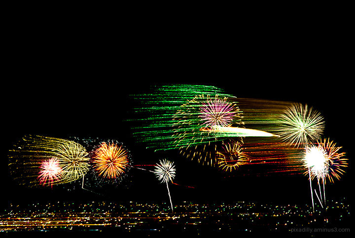 Fireworks in Motion