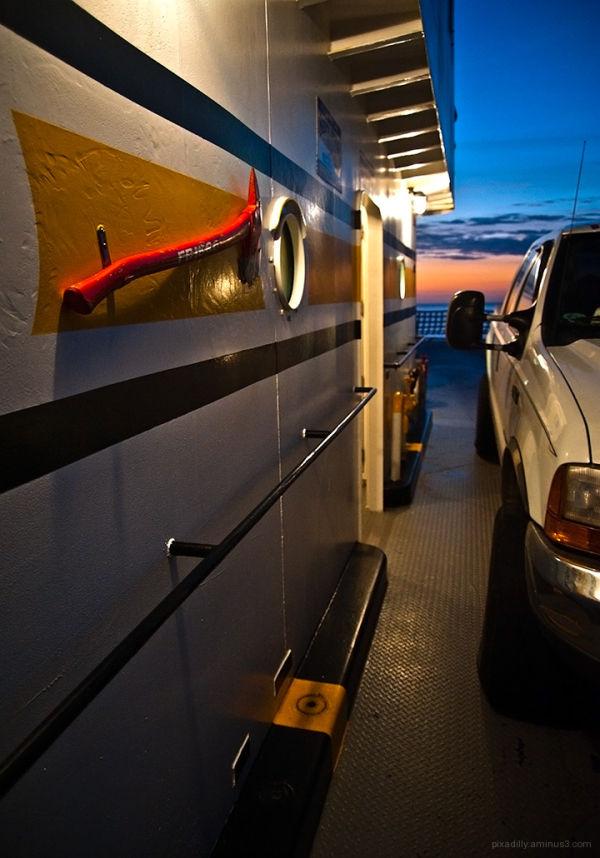 Evening Ferry with Hatchet