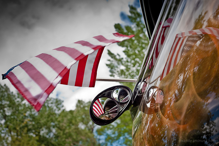 Flags and Hot Rods