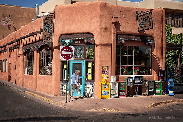 Santa Fe Street Scene # 2- Water & Don Gaspar