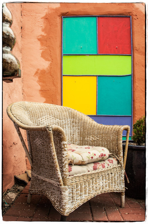 A Taste of Madrid, NM - Wicker Chair