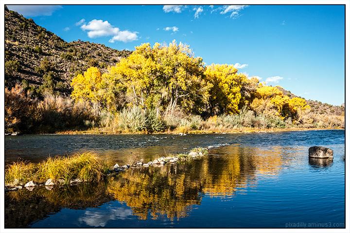 Autumn Reflections Along the Rio Grande