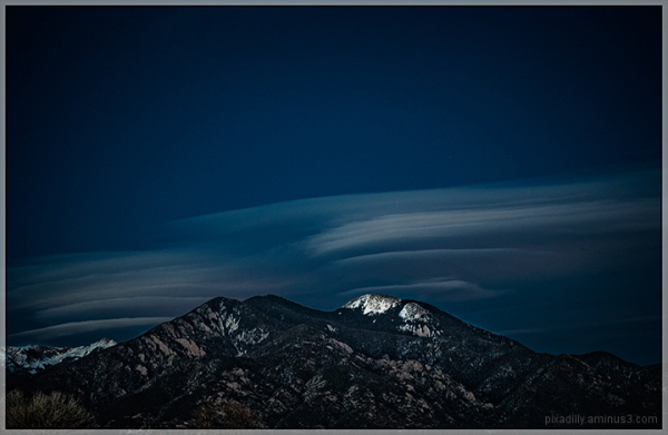 Taos Mountain Winter Night
