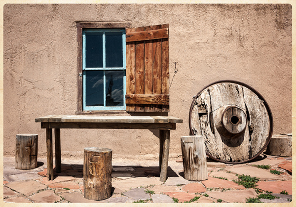 Wood:  Window and Wheel