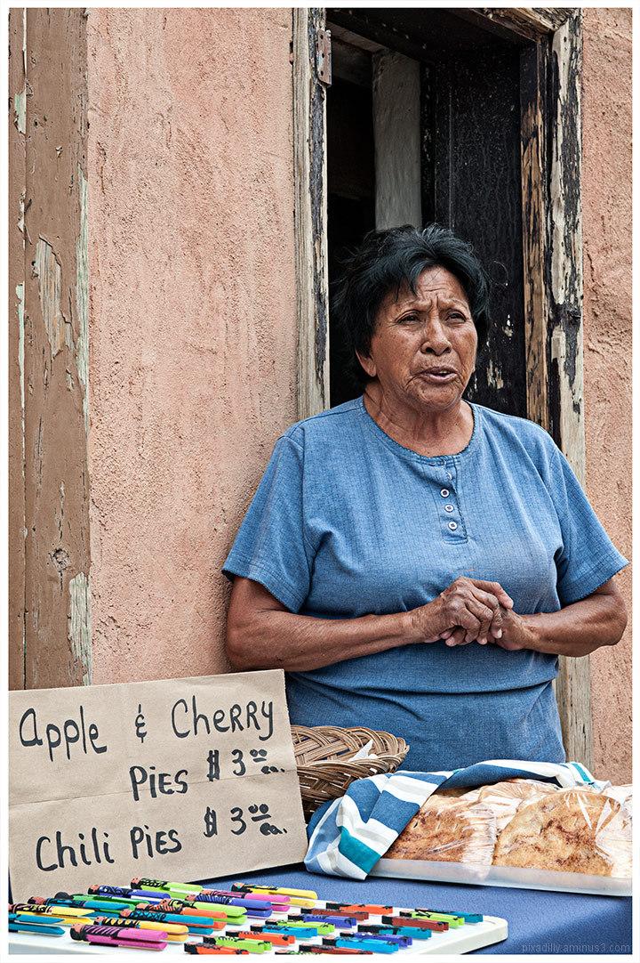 Acoma Woman Selling Pies
