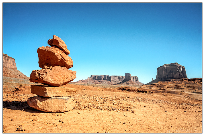 Cairn at Monument Valley