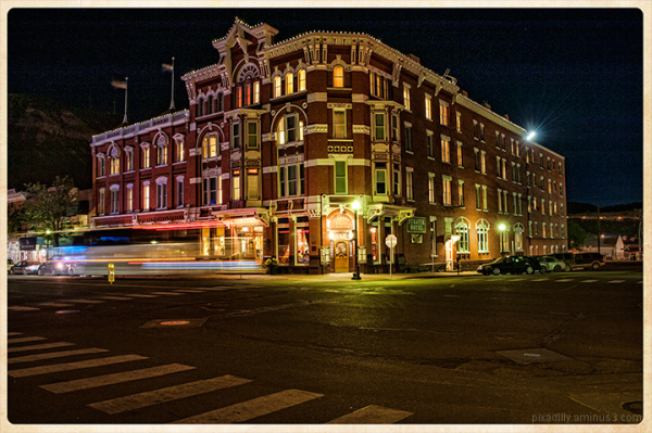 Strater Hotel by Night