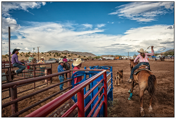 Calf-Roping Cowgirl