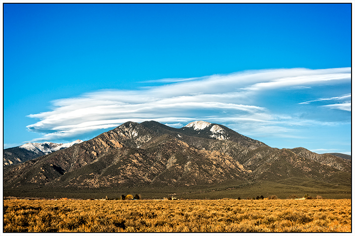 Lenticulars Over Taos Mountain