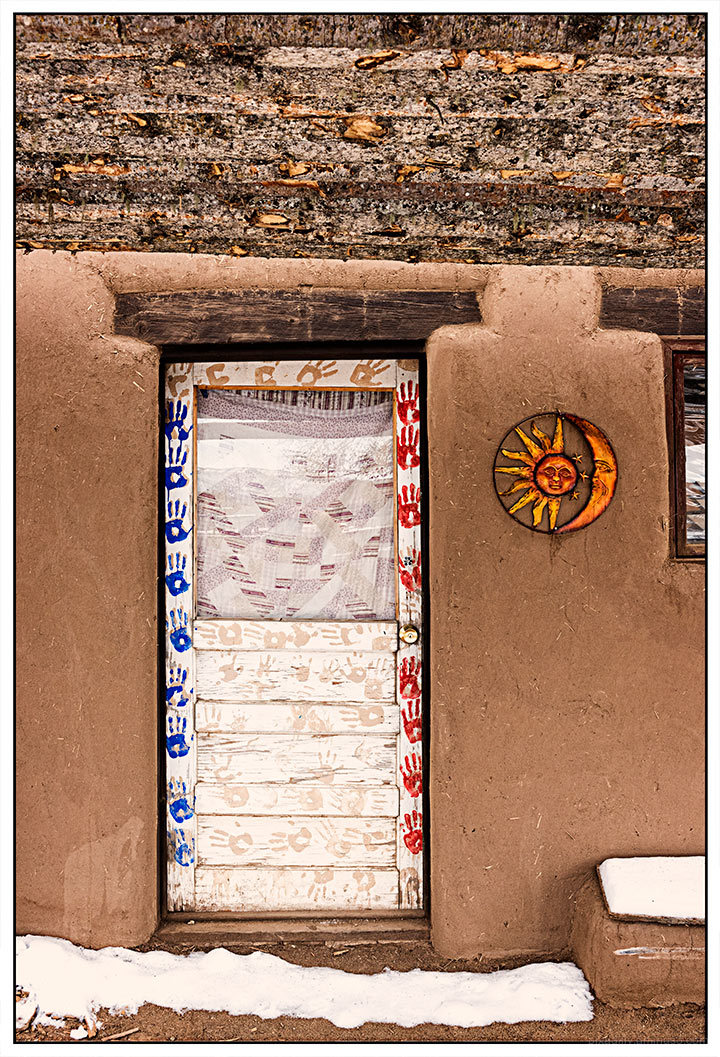 Pueblo Handprint Door