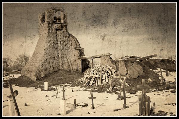 The Old Churchyard at Taos Pueblo