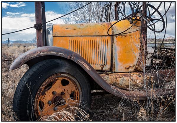 Old Orange Truck