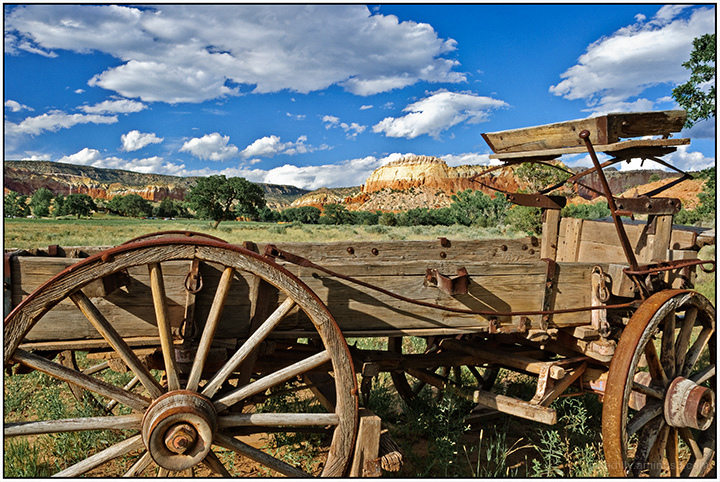 Local Landscapes:  Wagon at the Ghost Ranch