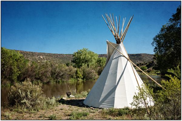 Tipi by the Rio Grande