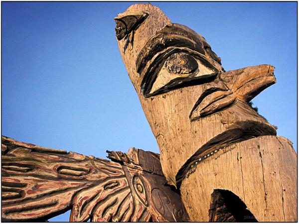 Animal Depictions:  Eagle Totem