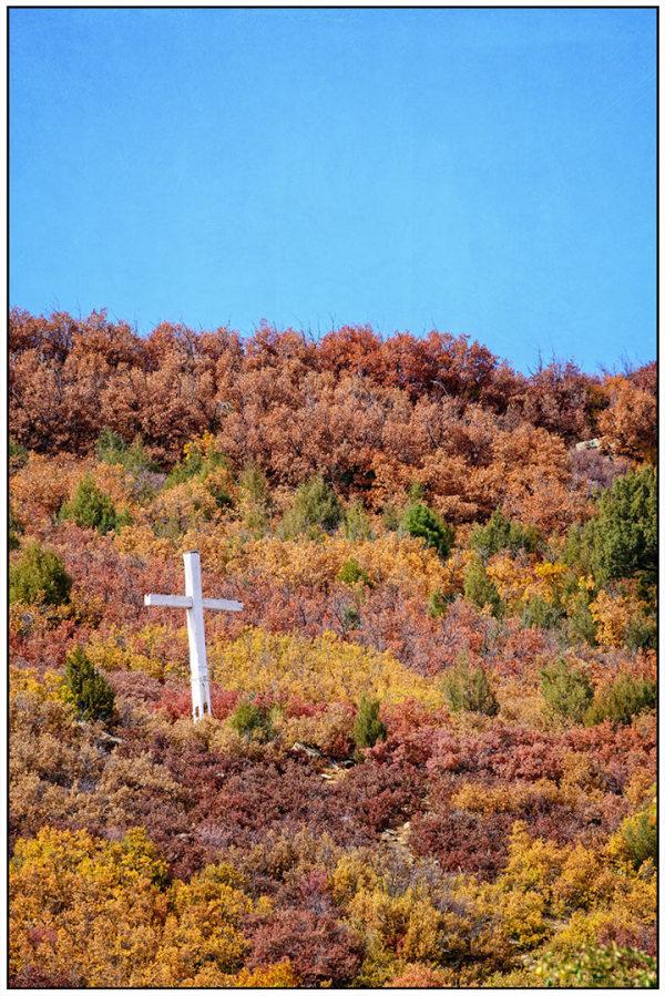 Hillside Cross in Autumn