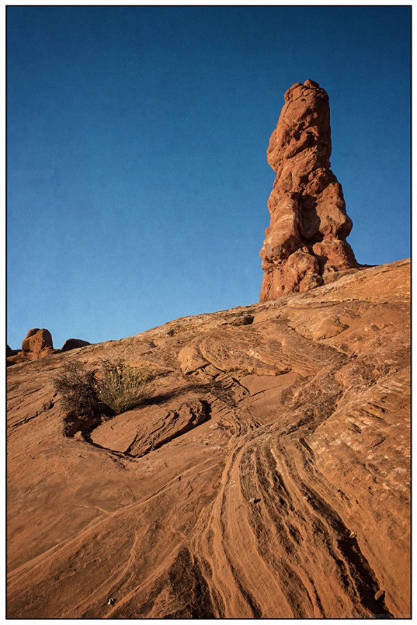 Arches National Park - Eroded Rock and Spire