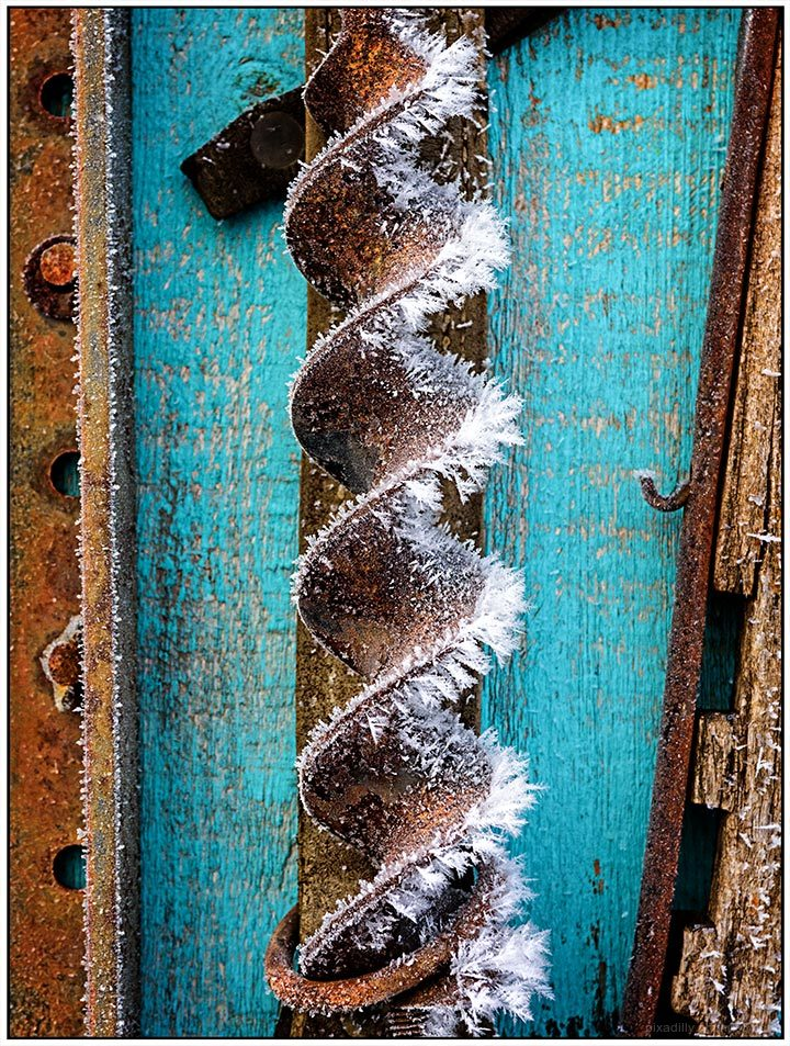 Drill Bit with Hoar Frost