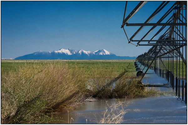 Irrigation and Blanca Peak