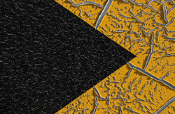 Pointillism:  Yellow and Black
