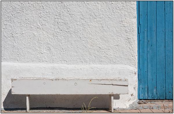 Minimalism:  White Bench