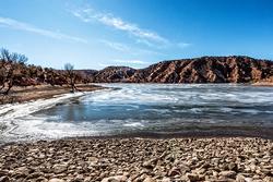 Local Landscapes:  Icy Santa Cruz Lake
