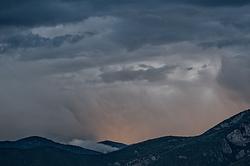Taos Mountain Stormy Evening