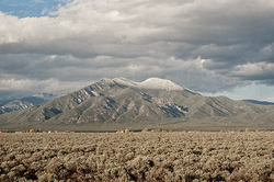 Taos Mountain with a Dusting