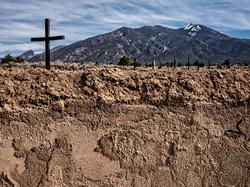 Morada Cross and Taos Mountain