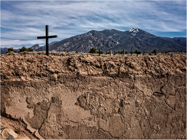 Morada Cross and Taos Mountain