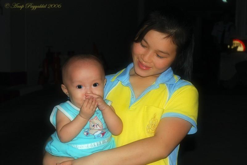 Baby & Mom at Bangkok, Thailand