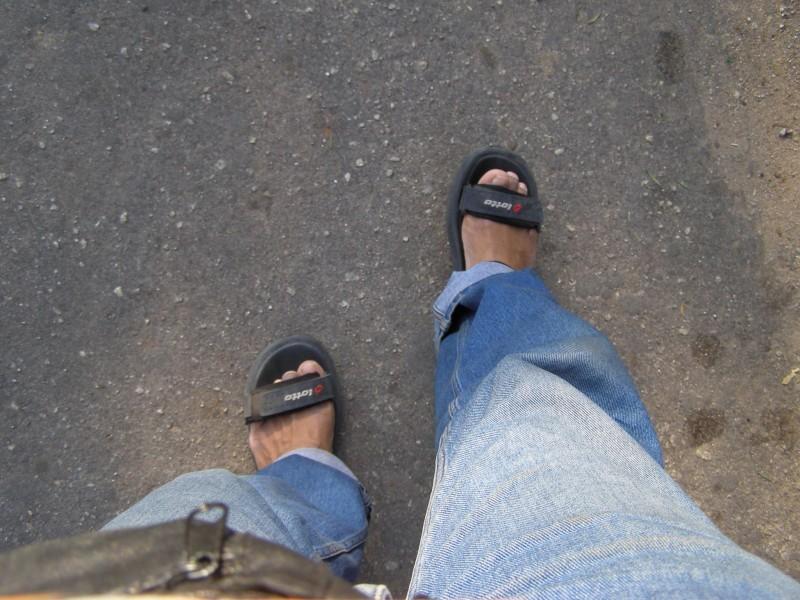 walking on..