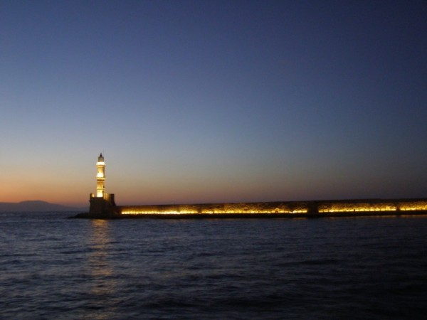 By the lighthouse at twilight