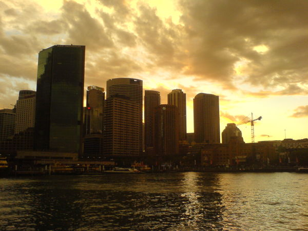 Circular Quay skyline at dusk