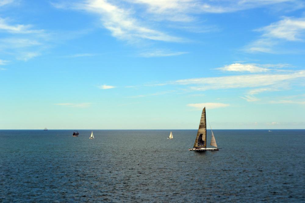 Into the open sea