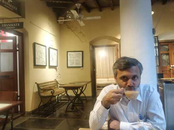 evening tea at a cafe