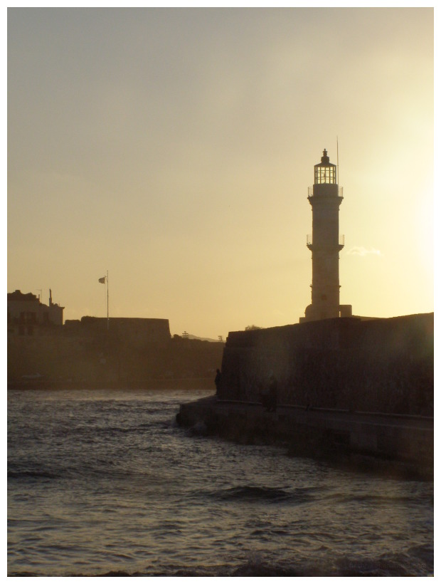 Sunset by the lighthouse
