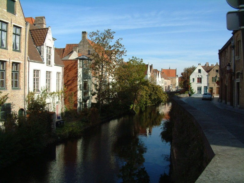 Early morning in Brugge, Belgium