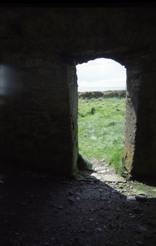 Inside of ruins in Ireland