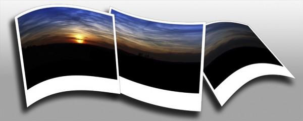 polaroid sunset