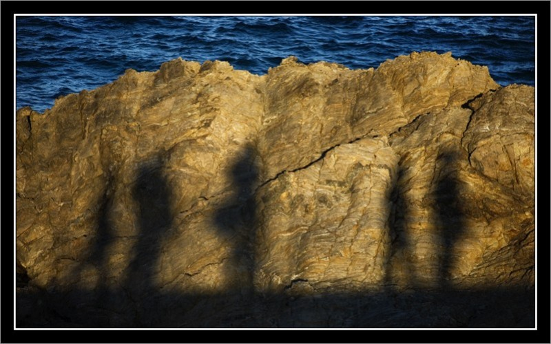 shadows on the rock