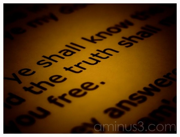 Truth – Is the Key