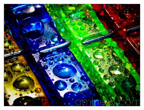 Life – Colourful Water Droplets