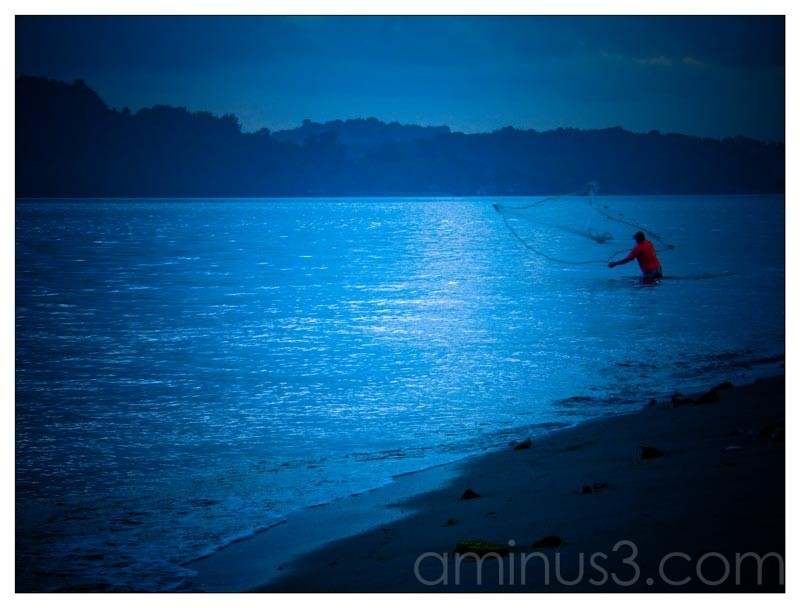 Life – Lone Fisherman In The Water
